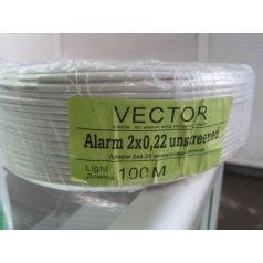 Кабель сигнальный 2*0,22 биметалл неэкранированный Vector