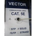 "Кабель Витая пара UTP CAT-5e ""Vector"" 305 m (4x2x0,515 mm) без экрана"